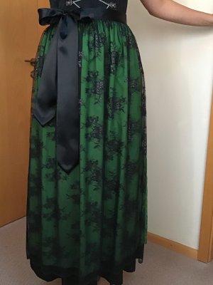 Schwarz grüne Spitzenschürze