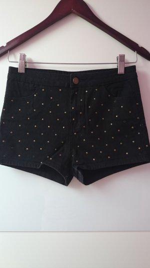 Schwarz Hotpants Gr 36 ***