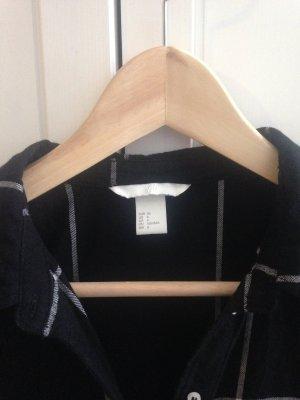 Schwarz kariertes Hemdblusenkleid - 36 - wie neu