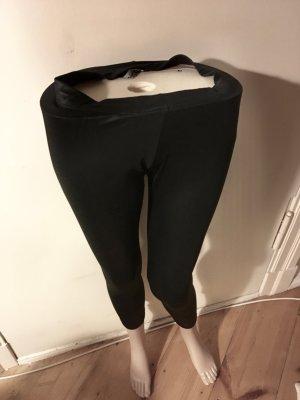 Schwarz Leggings mit Muster