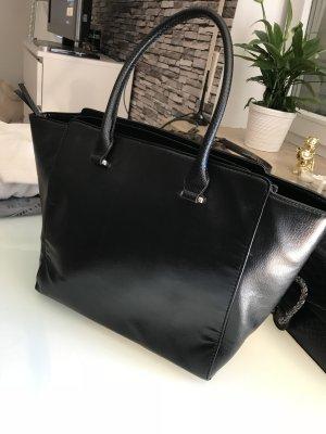 Schwarz leicht metallic Schulter Tasche