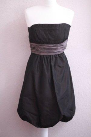 schwarz lila-braunes Ballonkleid Zara