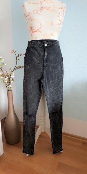 schwarz melierte highwaist skinny Jeans von River Island
