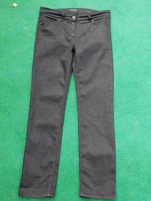 Schwarz mit schwarzen Mustern Hose von Garry Weber Edition