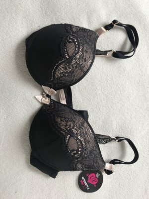 Schwarz-Nude Farbener BH