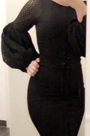 Schwarz Party Kleid