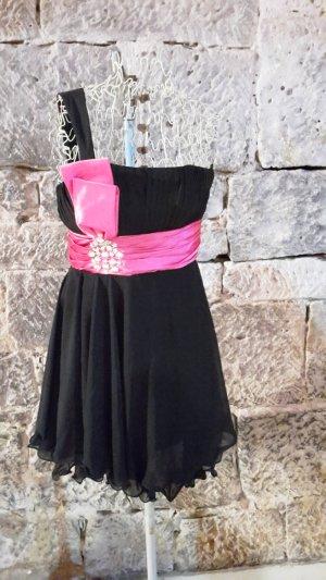 schwarz/pink Abendkleid Cocktailkleid Abschlusskleid Ballkleid
