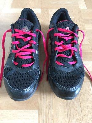 Schwarz/pinke adidas Sportschuhe