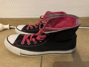 Schwarz pinke Converse All Star Chucks - Gr. 38,5 / 5 1/2