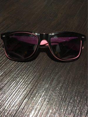 Schwarz Pinke Sonnenbrille
