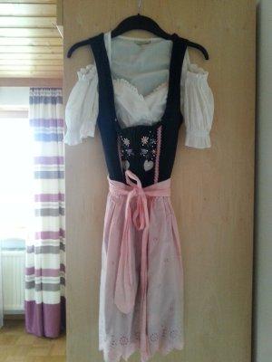 schwarz-rosa Dirndl, knielang