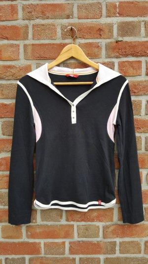 schwarz-rosa Longsleeve