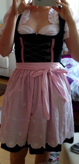 Schwarz/rosa Mini Dirndl Gr.32