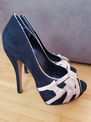 schwarz-rosane Buffalo Highheels