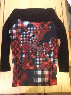 schwarz- rot gestreiftes Shirt