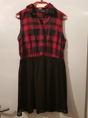 Schwarz-rot kariertes Kleid (neu/ungetragen)