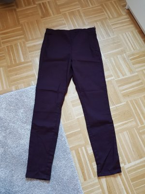 H&M Treggings nero-bordeaux