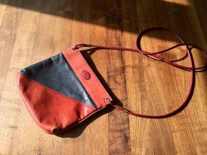 Schwarz-rote Vintage Handtasche von Aigner