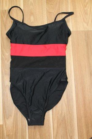 schwarz /roter Badeanzug Gr. 38  Neu