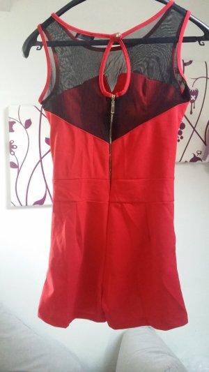 Schwarz-roter Jumpsuit