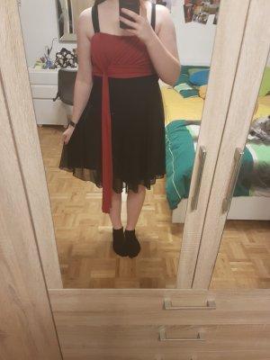 Schwarz rotes Abend Kleid