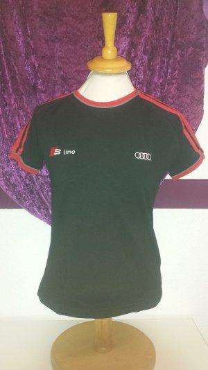 schwarz rotes T-Shirt von Audi s-line, Gr. M/38