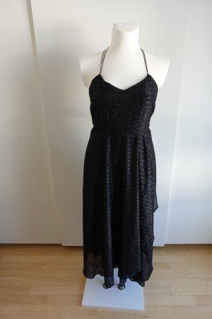 Schwarz schillerndes Abendkleid