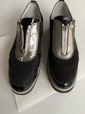Alfredo Giantin Slip-on Sneakers black-silver-colored