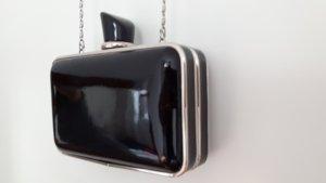 schwarz-silberne Abendtasche von Aldo