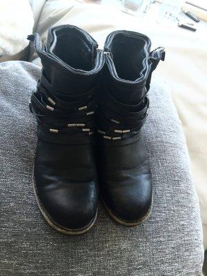 Schwarz silberne booties