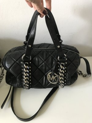 Schwarz/Silberne Michael Kors Tasche