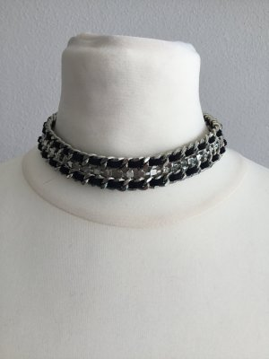 Collier Necklace black-light grey mixture fibre