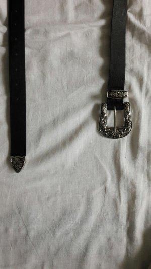 Schwarz silberner Cowboygürtel H&M