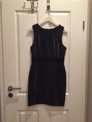 Schwarz Silbernes Kleid
