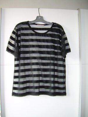 schwarz-transparent gestreiftes T-Shirt Gr. 42 von Atmosphere oversize