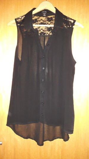 schwarz-transparente Bluse