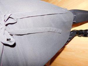 Schwarz-transparenter Bikini-Wickelrock mit Glitzerfäden