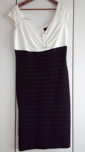 Schwarz Weiß Abendkleid