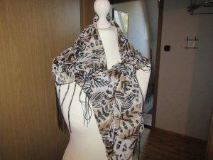 schwarz-weiß-beiger Schal wie abgebildet