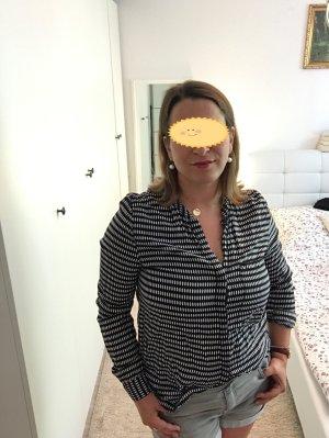 Schwarz weiß farbene Bluse