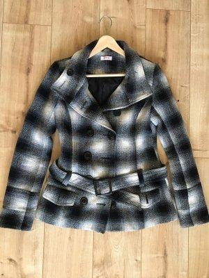 Orsay Chaqueta de lana negro-blanco