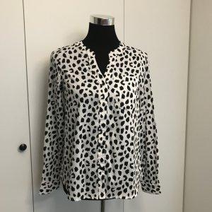 Schwarz weiß gemusterte Bluse