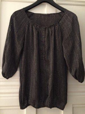Schwarz-weiß gemusterte Bluse von Esprit