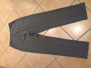 Schwarz/Weiß gemusterte Hose | Schicke Hose | Leichter Stoff