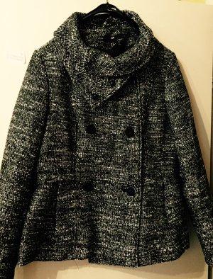 Schwarz weiß gemusterte Jacke/Kurzmantel von H&M