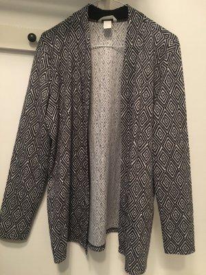 Schwarz weiß gemusterter Blazer/Cardigan H&M