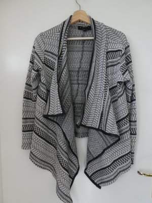 Amisu Wool Blazer white-black cotton