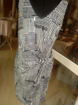 schwarz weiß gemustertes Kleid Montego 40