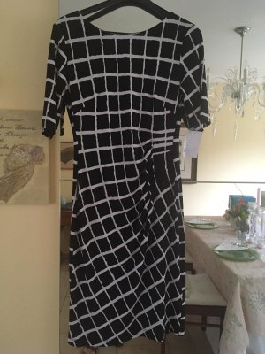 Connected Apparel Shortsleeve Dress black-white