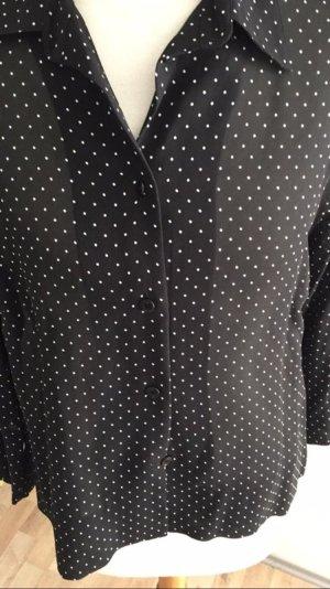 Schwarz weiß gepunktete Bluse